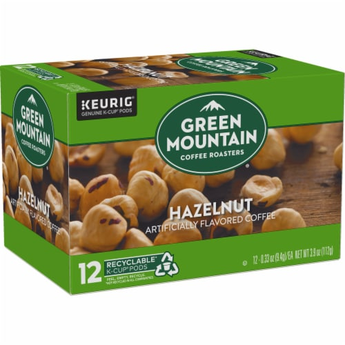 Green Mountain Coffee Hazelnut Coffee K-Cup Pods Perspective: right