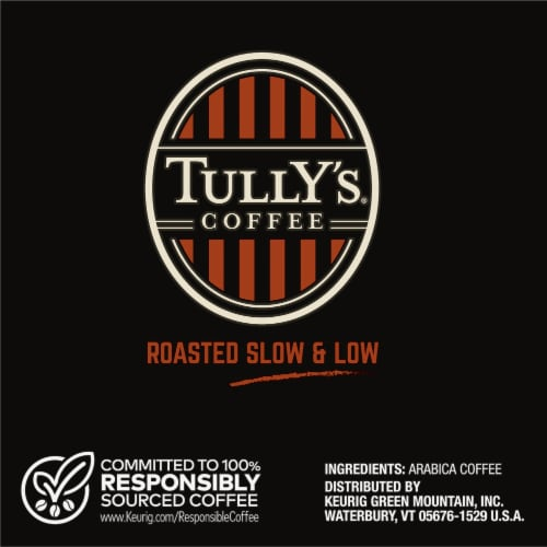 Tully's Coffee French Roast Dark Roast Coffee K-Cup Pods Perspective: right