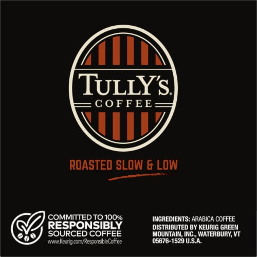 Tully's Coffee Hawaiian Blend Medium Roast Coffee K-Cup Pods Perspective: right