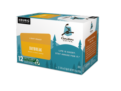 Caribou Coffee® Daybreak Light Roast Coffee K-Cup Pods Perspective: right
