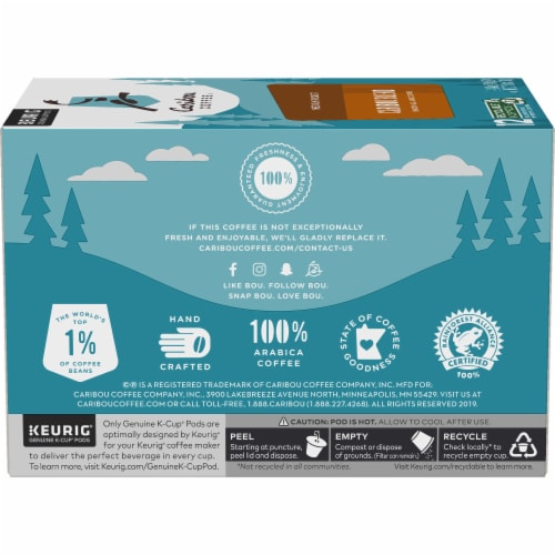 Caribou Coffee Caribou Blend Medium Roast K-Cup Pods Perspective: right