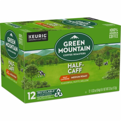 Green Mountain Coffee Roasters Half-Caff Medium Roast Coffee K-Cup Pods Perspective: right