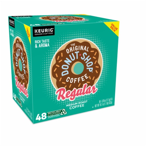 The Original Donut Shop Regular Medium Roast Coffee K-Cup Pods Perspective: right