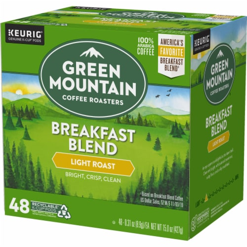 Green Mountain Coffee Roasters Light Roast Breakfast Blend Coffee K-Cup Pods Perspective: right