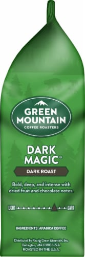 Green Mountain Coffee Dark Magic Espresso Blend Whole Bean Coffee Perspective: right