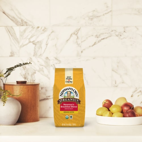 Newman's Own Organic Breakfast Blend Ground Coffee Perspective: right