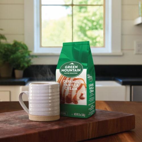 Green Mountain Coffee Caramel Vanilla Cream Flavored Ground Coffee Perspective: right