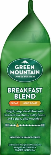 Green Mountain Coffee Decaf Breakfast Blend Light Roast Ground Coffee Perspective: right