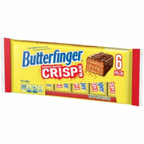 Butterfinger Peanut Butter Crisp Bars Perspective: right
