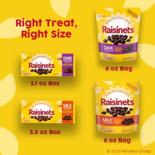 Raisinets Dark Chocolate Covered Raisins Perspective: right