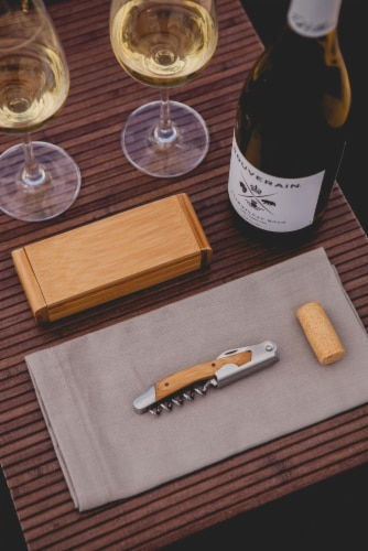 Elan Deluxe Corkscrew In Bamboo Box, Bamboo Perspective: right