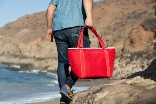 Topanga Cooler Tote Bag, Red Perspective: right
