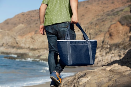 Topanga Cooler Tote Bag, Navy Blue Perspective: right