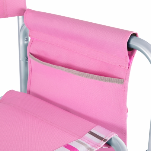Sports Chair, Pink Stripe Perspective: right