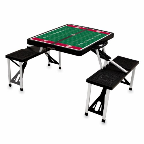 Washington State Cougars Portable Picnic Table Perspective: right