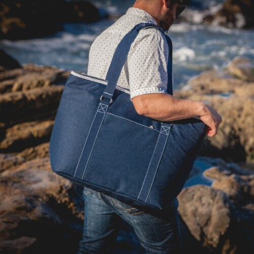 Tahoe XL Cooler Tote Bag, Navy Blue Perspective: right