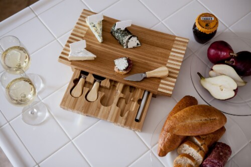 Concavo Cheese Cutting Board & Tools Set, Bamboo Perspective: right