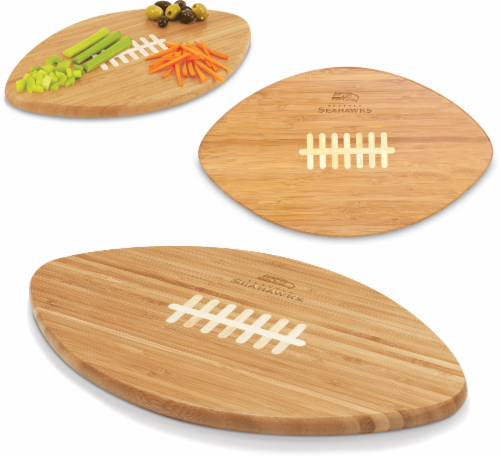 Seattle Seahawks Touchdown Football Cutting Board and Serving Tray Perspective: right