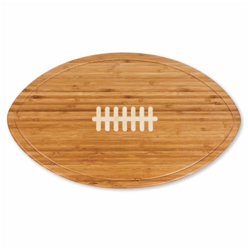 Kickoff Football Cutting Board & Serving Tray, Bamboo Perspective: right