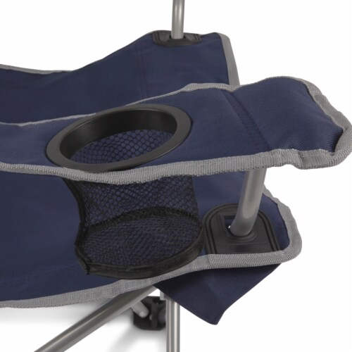 Campsite Camp Chair, Navy Blue with Gray Accents Perspective: right
