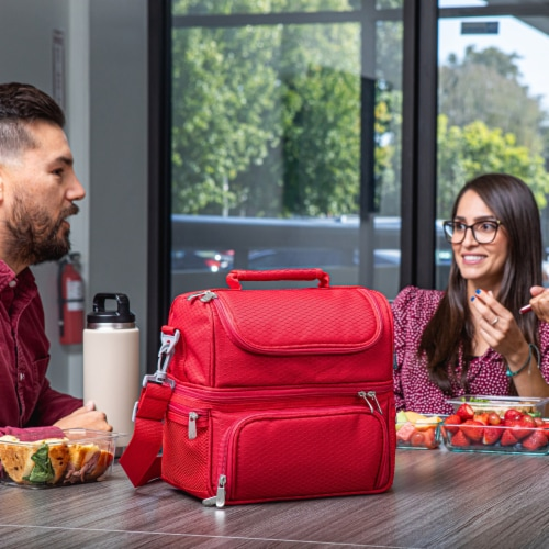 Pranzo Lunch Cooler Bag, Red Perspective: right