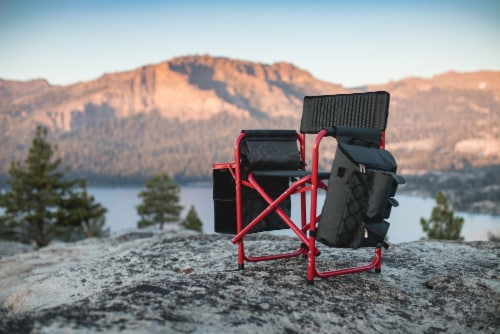 NC State Wolfpack - Fusion Backpack Chair with Cooler Perspective: right