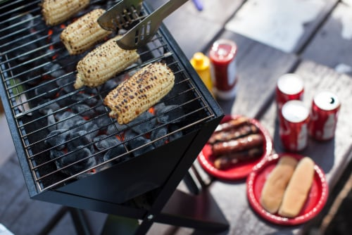 Oklahoma Sooners - X-Grill Portable Charcoal BBQ Grill Perspective: right