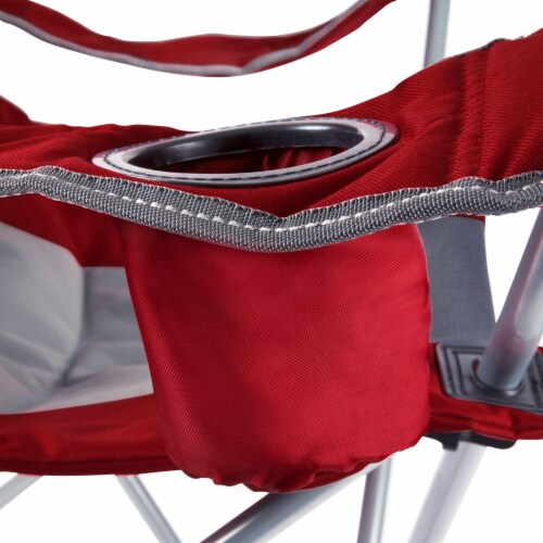 Oklahoma Sooners - Reclining Camp Chair Perspective: right