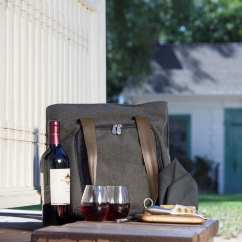 Sonoma Wine & Cheese Picnic Tote, Gray Perspective: right