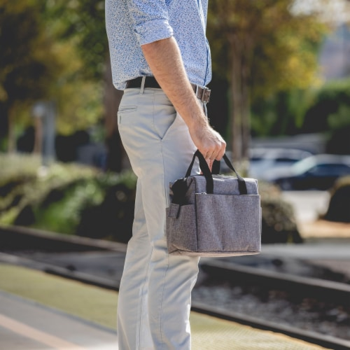 On The Go Lunch Cooler, Heathered Gray Perspective: right