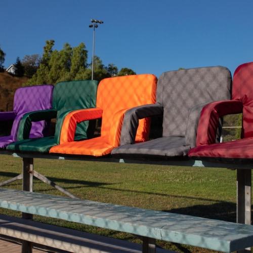 Ventura Portable Reclining Stadium Seat, Hunter Green Perspective: right