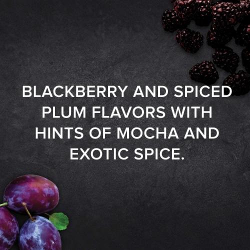 Menage a Trois Midnight Dark Red Wine Blend 750mL Wine Bottle Perspective: right