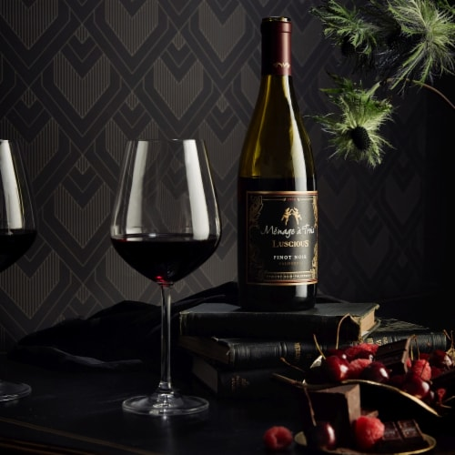 Menage a Trois Luscious Pinot Noir Red Wine Perspective: right