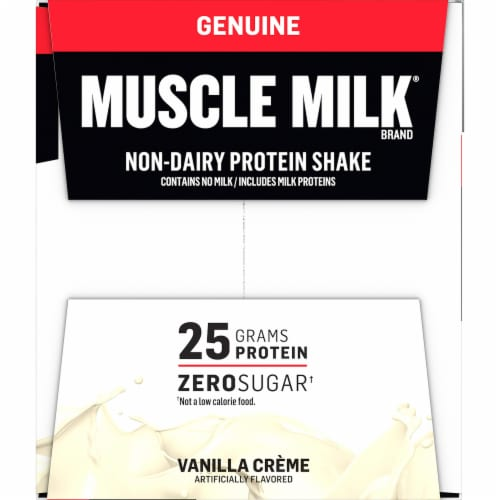 Muscle Milk Vanilla Creme Non-Dairy Protein Shakes Perspective: right