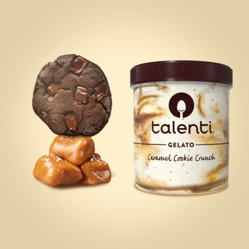 Talenti Caramel Cookie Crunch Gelato Ice Cream Perspective: right