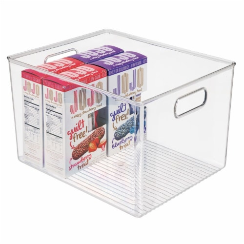 mDesign Plastic Storage Organizer Large Kitchen Container Bin - 2 Pack - Clear Perspective: right