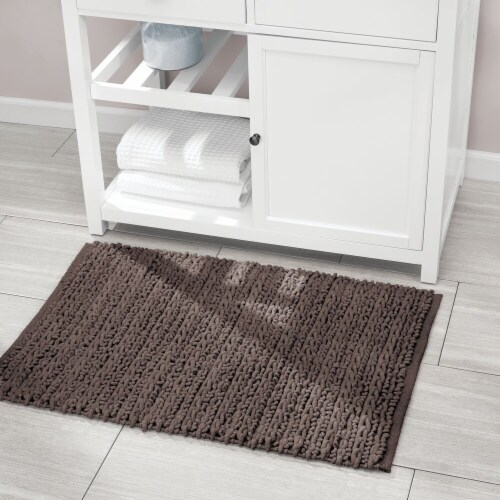mDesign Soft Cotton Spa Mat Rug for Bathroom, Varied Sizes, Set of 3 - Brown Perspective: right