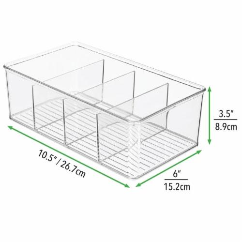mDesign Plastic Kitchen Pantry Food Storage Organizer Bin, 2 Pack Perspective: right