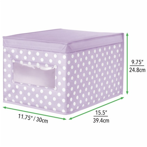 mDesign Stackable Fabric Closet Storage Organizer Box, Lid - 4 Pack Perspective: right