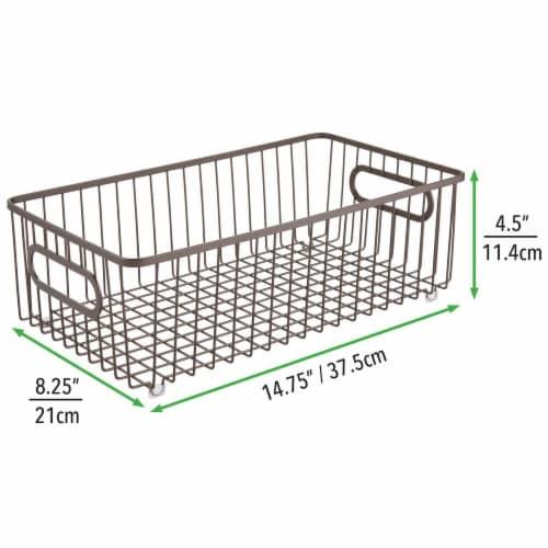 mDesign Metal Kitchen Pantry Food Storage Basket Bin, 8 Pack Perspective: right