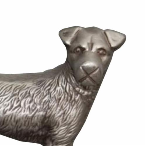 Aluminum Dog Statuette Table Accent Decor Perspective: right