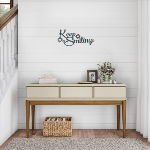 Metal Cutout- Keep Smiling Decorative Wall Sign-3D Word Art Home Accent Decor Perspective: right