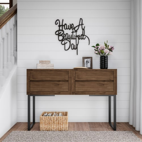 Metal Cutout-Have a Beautiful Day Decorative Wall Sign-3D Word Art Home Accent Decor-Perfect Perspective: right
