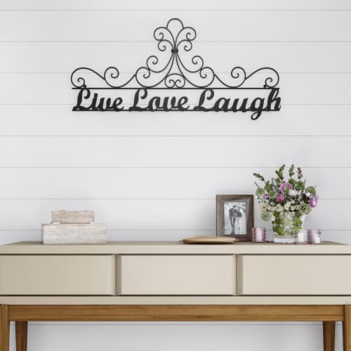 Metal Cutout-Live Laugh Love Decorative Wall Sign-3D Word Art Home Accent Decor-Modern Rustic Perspective: right