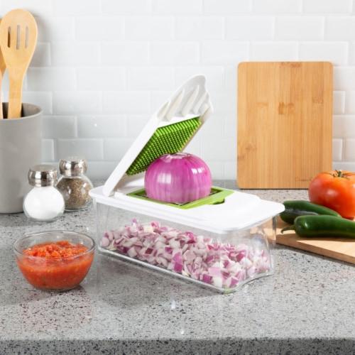 7-In-1 Chopper Mandolin Slicer-Chop, Slice, Julienne, Grating Blades for Veggies, Fruit, Perspective: right