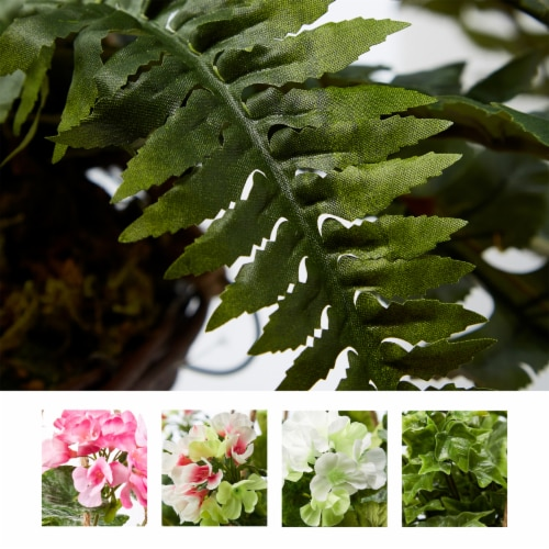 Faux Boston Fern  Hanging Natural and Lifelike Artificial Arrangement and Imitation Greenery Perspective: right