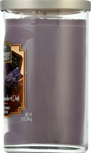 Yankee Candle Dried Lavender & Oak Pillar Candle - Purple Perspective: right