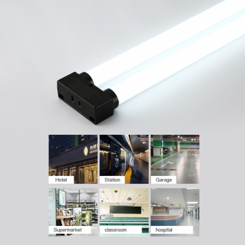 4FT 40-watt Integrated LED Linkable Shop Light 4Pack Perspective: right