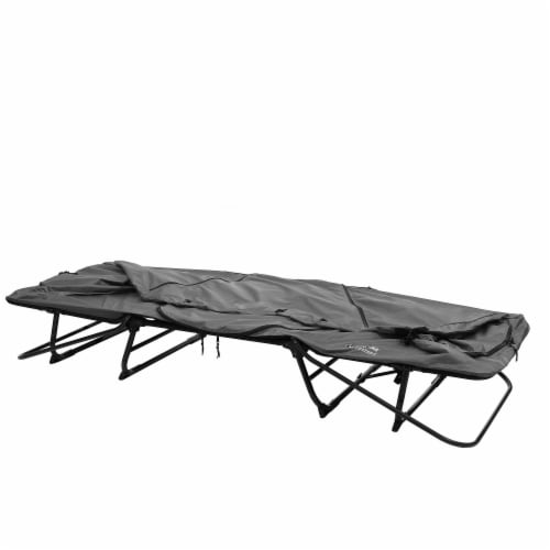 Kamp-Rite Original 1 Person Tent Cot Folding Bed Bundle w/ Valuables Storage Bag Perspective: right