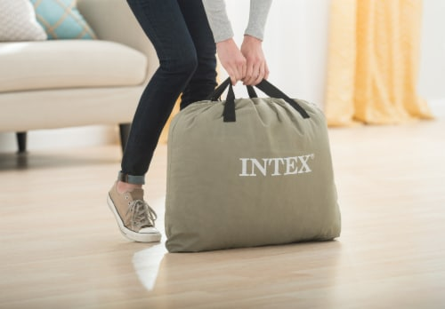 Intex Standard Deluxe Pillow Rest Raised Airbed w/ Built in Pump, Twin (2 Pack) Perspective: right